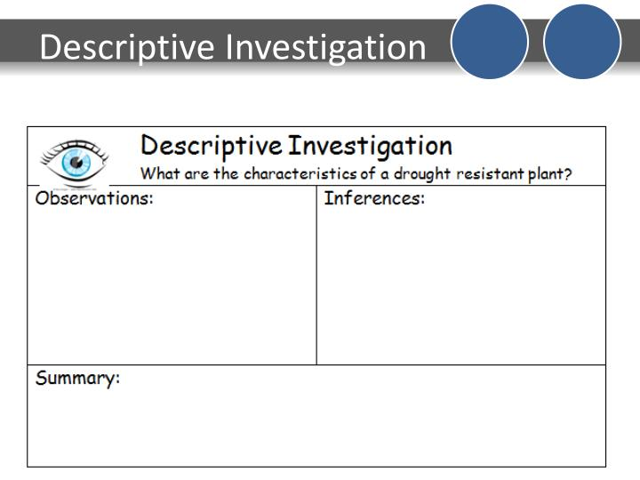 Descriptive Investigation