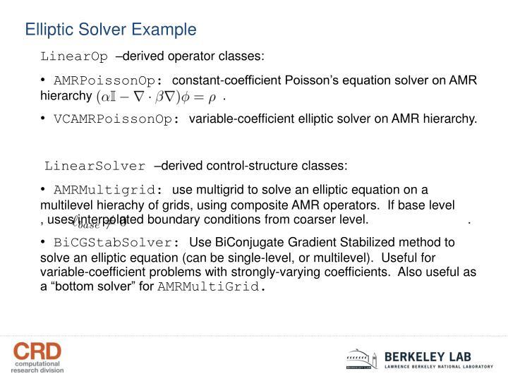 Elliptic Solver Example