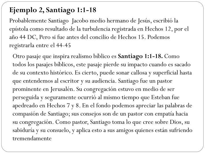 Ejemplo 2, Santiago 1:1-18
