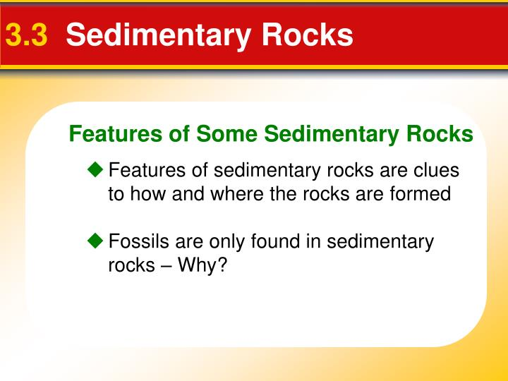 Features of Some Sedimentary Rocks