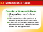 3 4 metamorphic rocks