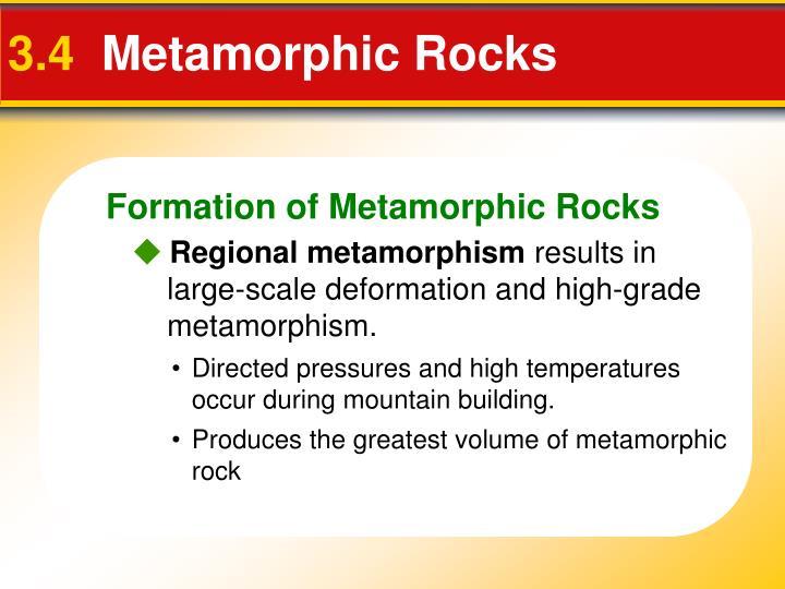 Formation of Metamorphic Rocks