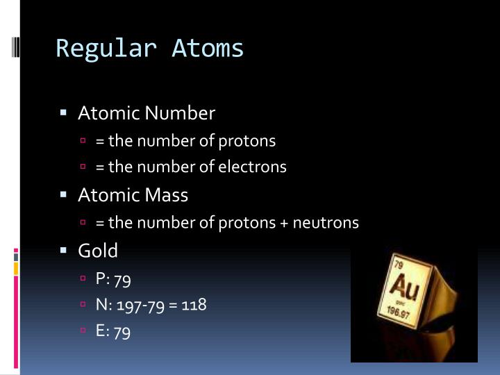 Regular Atoms