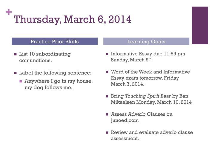 Thursday, March 6, 2014