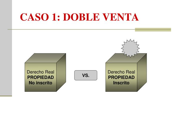 CASO 1: DOBLE VENTA