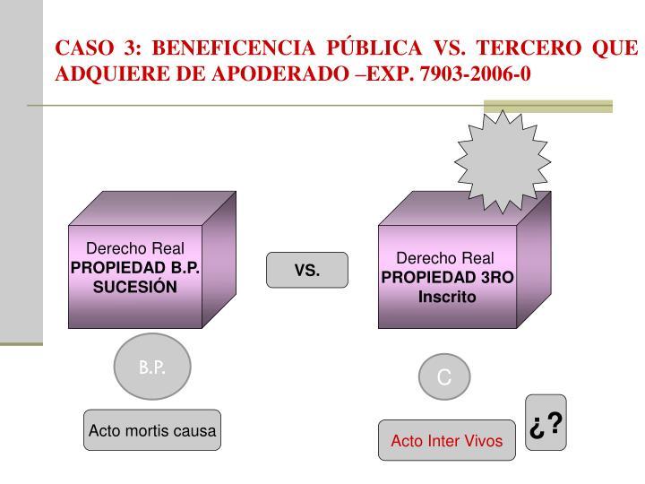 CASO 3: BENEFICENCIA PÚBLICA VS. TERCERO QUE ADQUIERE DE APODERADO –EXP. 7903-2006-0