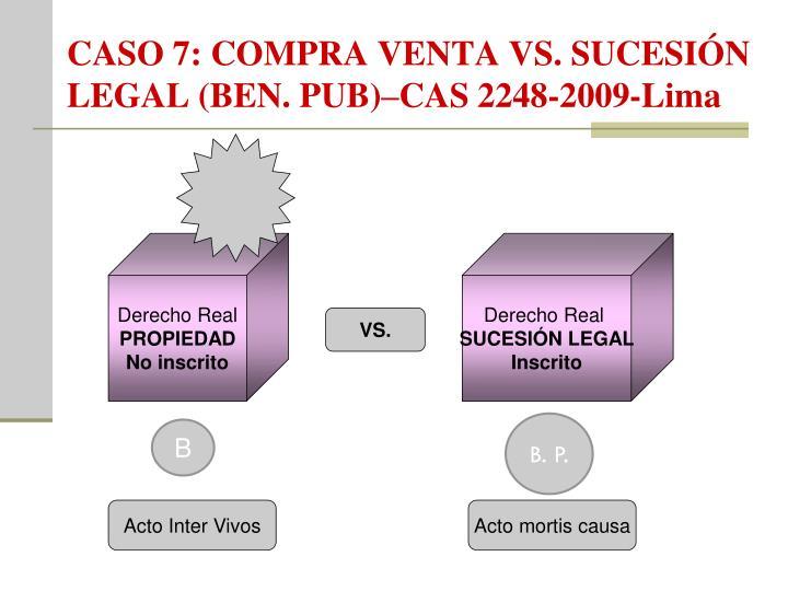 CASO 7: COMPRA VENTA VS. SUCESIÓN