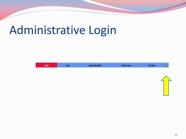 Administrative Login