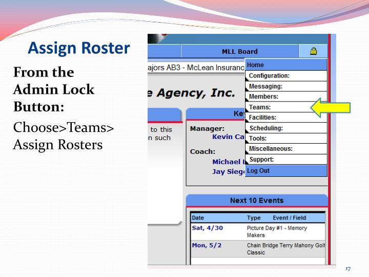 Assign Roster