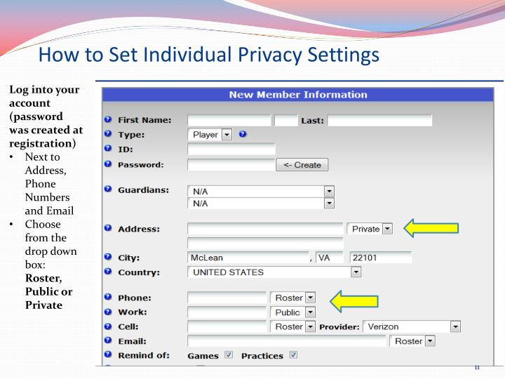 How to Set Individual Privacy Settings