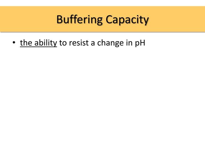 Buffering Capacity