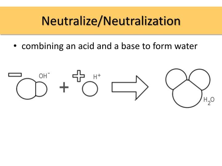 Neutralize/Neutralization