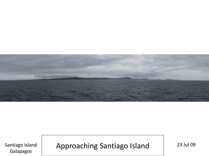 Approaching Santiago Island