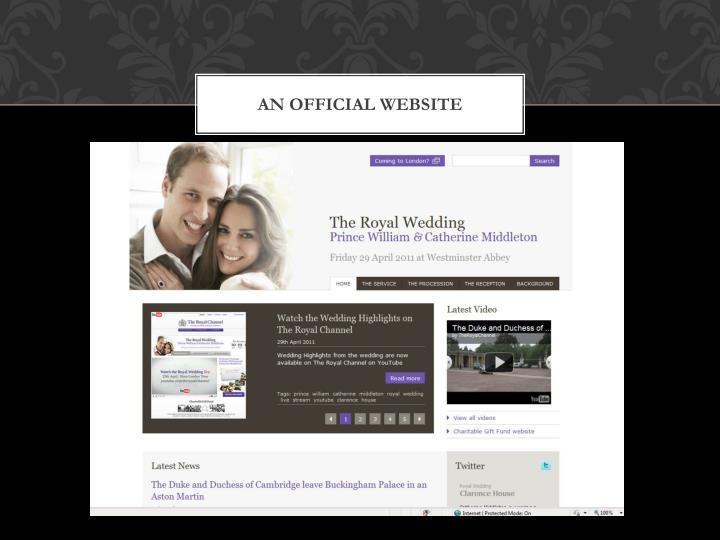 An Official website