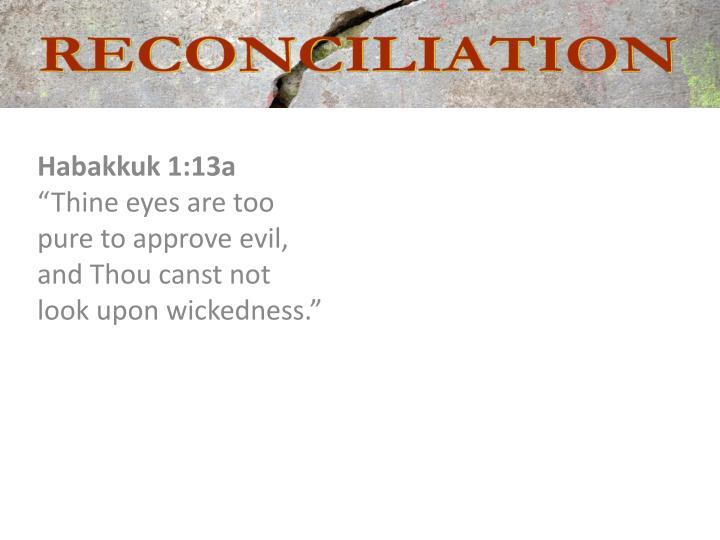 Habakkuk 1:13a