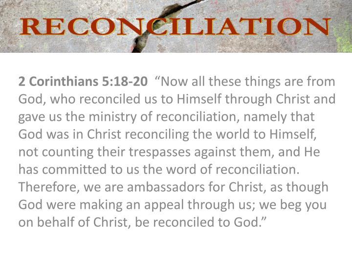 2 Corinthians 5:18-20
