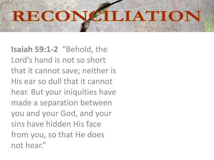 Isaiah 59:1-2