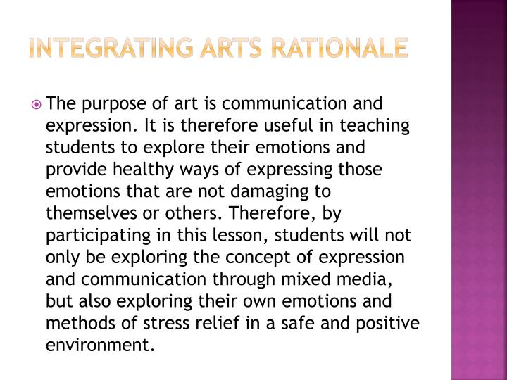 Integrating Arts Rationale