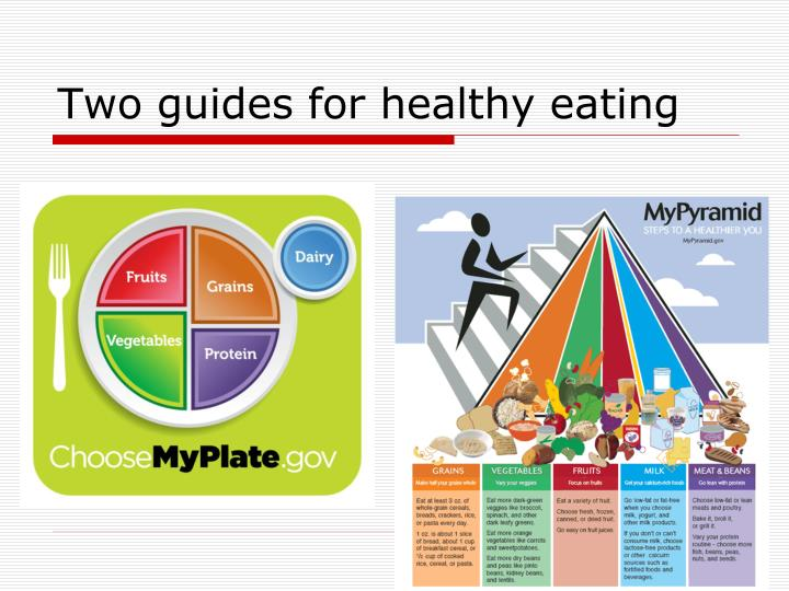 Two guides for healthy eating