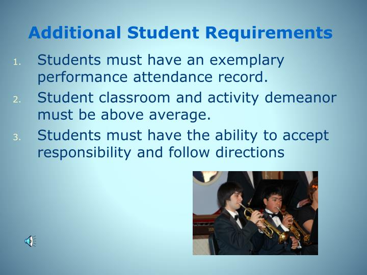 Additional Student Requirements