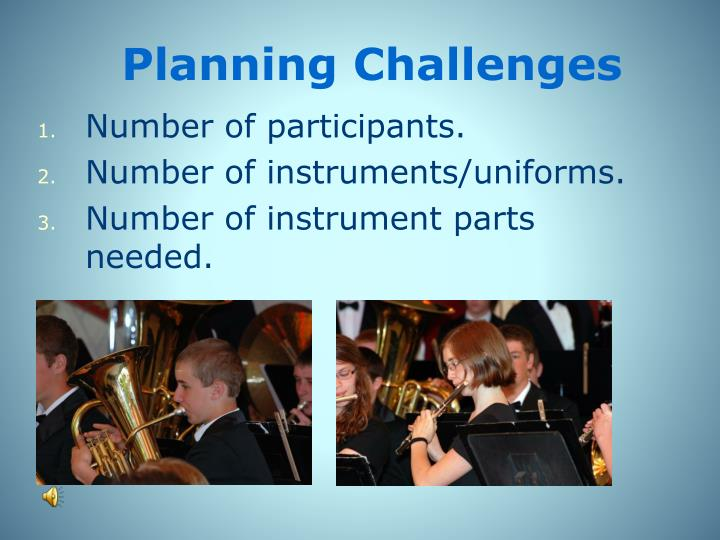 Planning Challenges