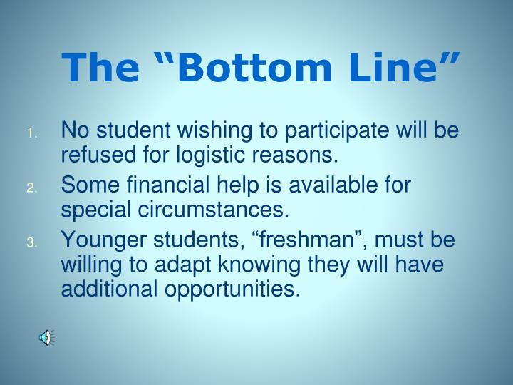 "The ""Bottom Line"""
