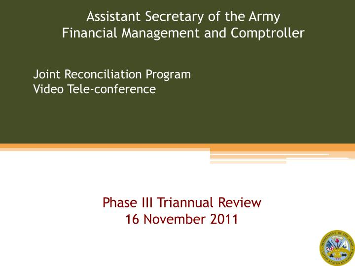Joint reconciliation program video tele conference