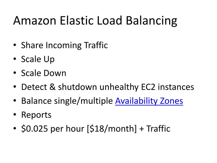 Amazon Elastic Load Balancing