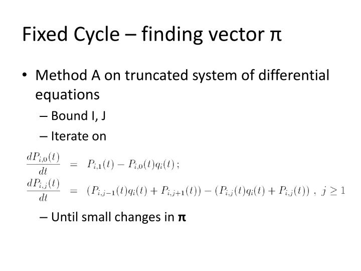 Fixed Cycle – finding vector