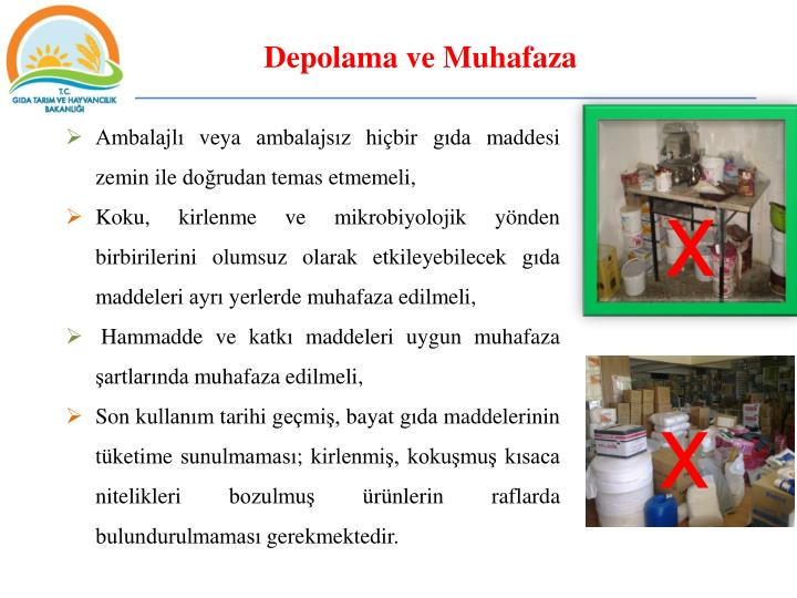 Depolama ve Muhafaza