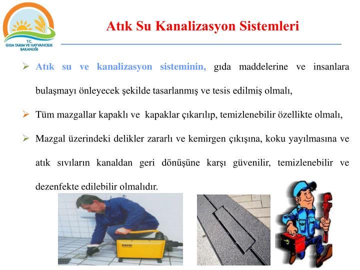 Atık Su Kanalizasyon Sistemleri