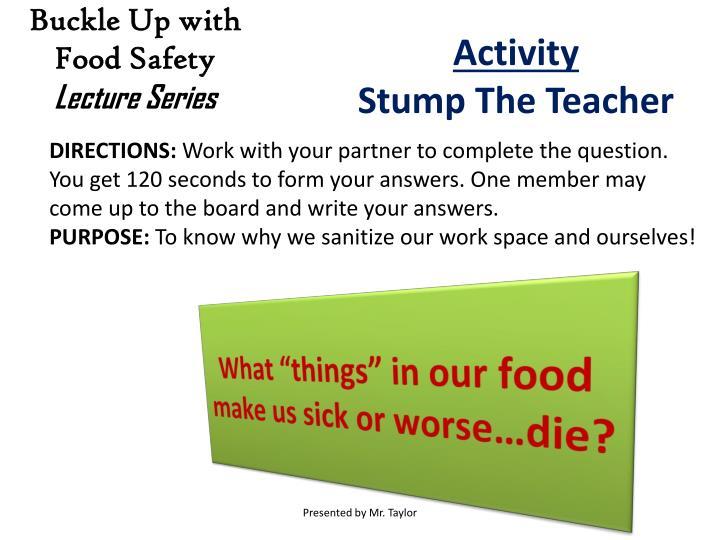 """What """"things"""" in our food make us sick or worse…die?"""