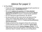 advice for paper 23