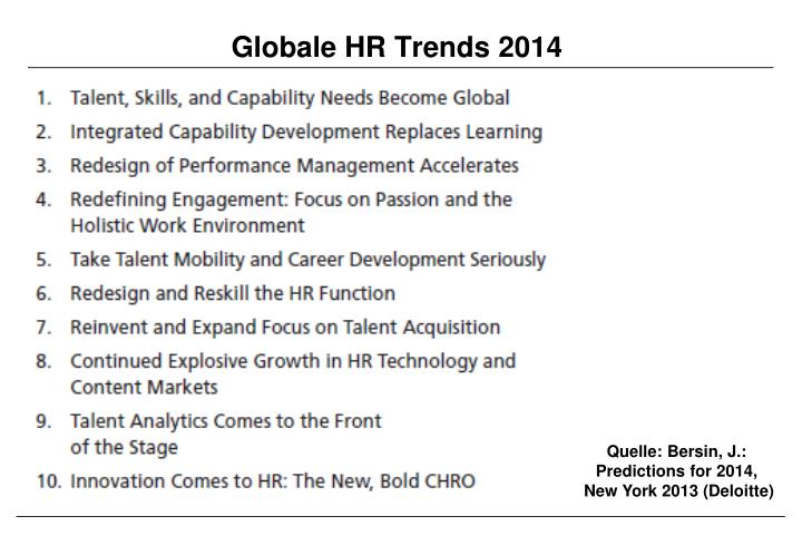 Globale HR Trends 2014
