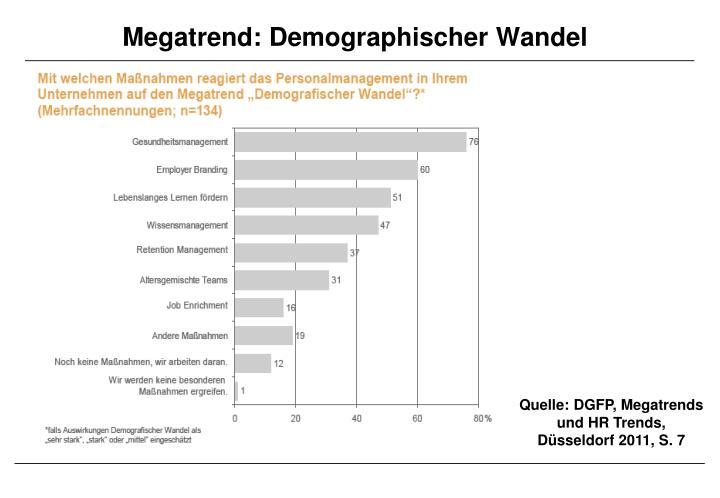 Megatrend: Demographischer Wandel