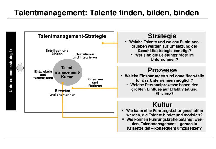 Talentmanagement: Talente finden, bilden, binden