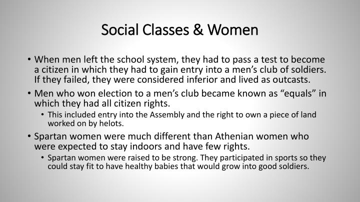 Social Classes & Women