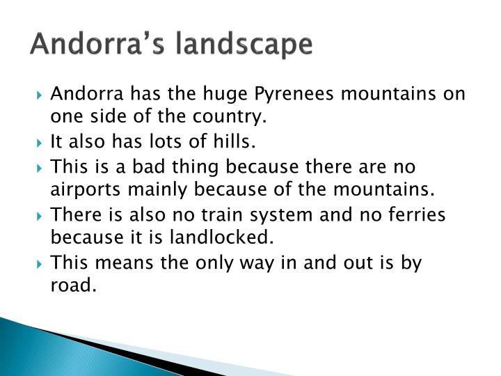 Andorra's landscape