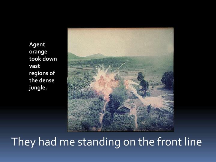 Agent orange took down vast regions of the dense jungle.