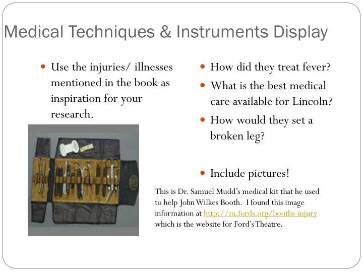 Medical Techniques & Instruments Display