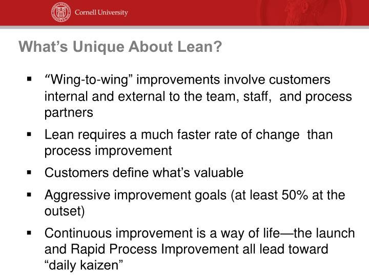 What's Unique About Lean?