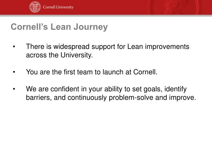 Cornell's Lean Journey