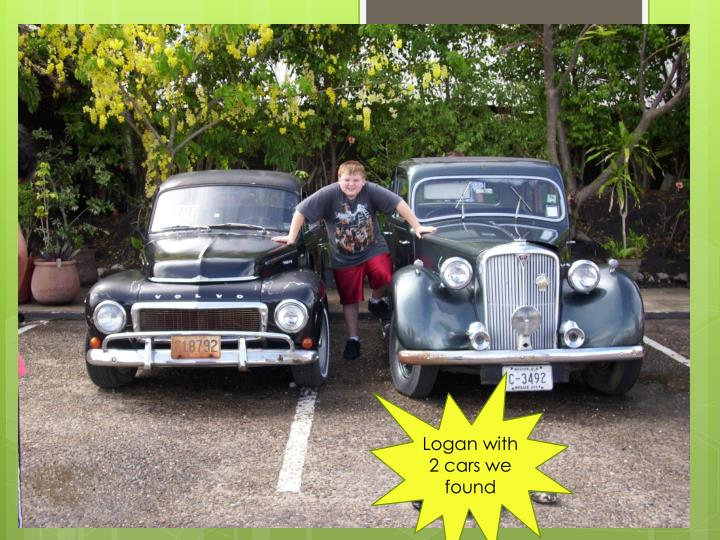 Logan with 2 cars we found