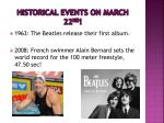 historical events on march 22 nd2