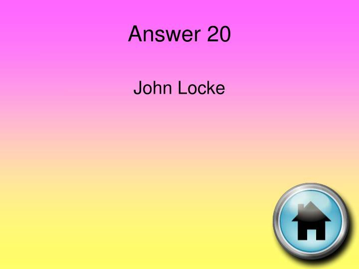 Answer 20