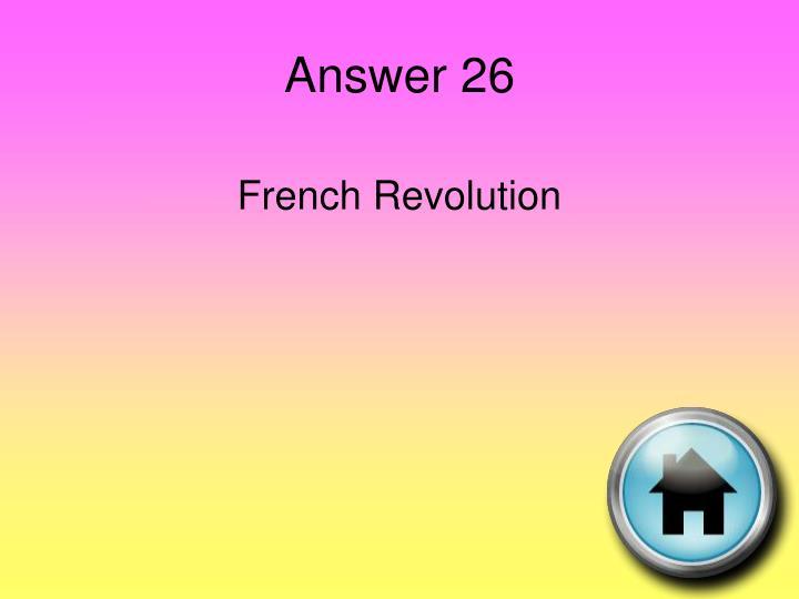 Answer 26