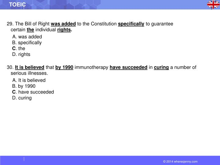 29. The Bill of Right