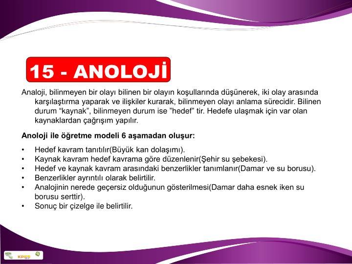 15 - ANOLOJİ