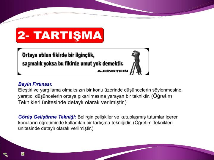 2- TARTIŞMA
