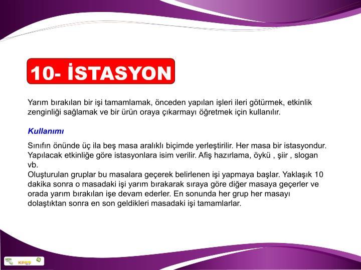 10- İSTASYON